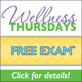 Wellness Thursday Free Exam Promotion Button
